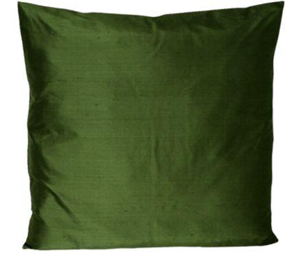 coussin savona soie vert fonc l 48 p 48 cm livique. Black Bedroom Furniture Sets. Home Design Ideas
