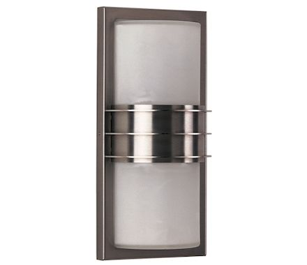 LAMP. EXT. INOX, VERRE OPAL, IP44 52W