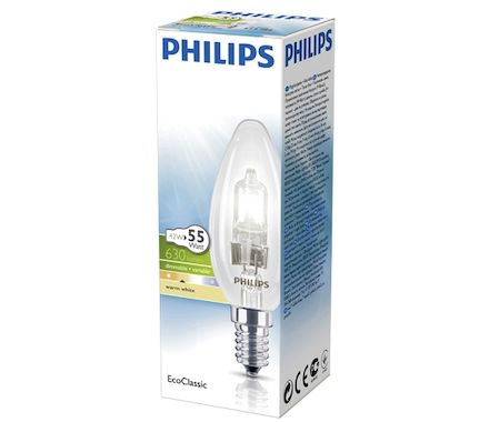 Philips Hal. EC30 42W E14 B35 clair
