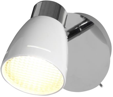 SPOT Grey weiss/chrom 1x5W LED 3000K