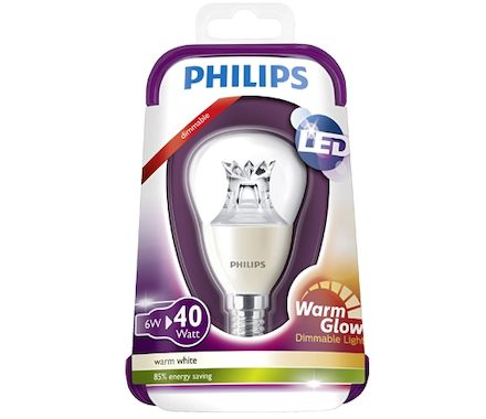Philips Kugel LED40W(6W)E14 dim.klar ww
