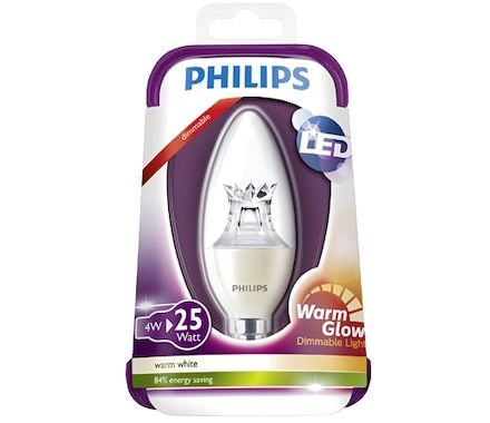 Philips Kerze LED 25W(3.5W)E14 dim kl ww