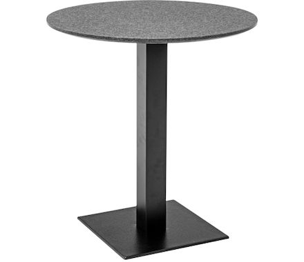 table de bistro granit/base noir