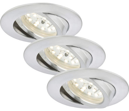 EBSP alu 5.5W LED D:8.2CM 3er Set