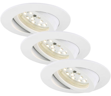 EBSP weiss 5W LED D:8.2CM 3er Set