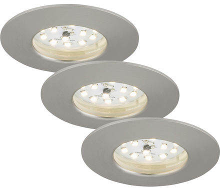 SIC nickel 5W LED D:7.5CM 3er Set