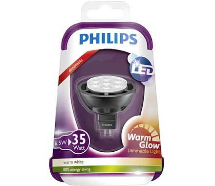 Philips WarmGlow LED 35W GU5.3 cb