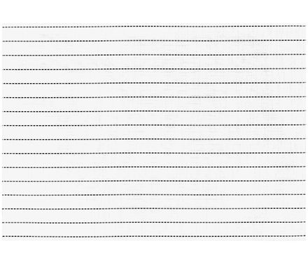 Set de table Stripes blanc 45x33cm