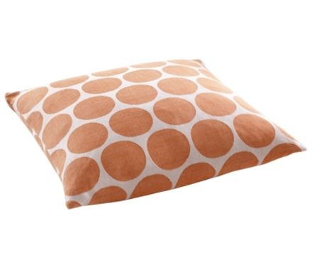 Coussin coton Circle 44x44cm orange