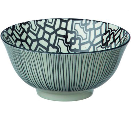 Bowl Dzipa 15x7cm nero/bianco Mix It