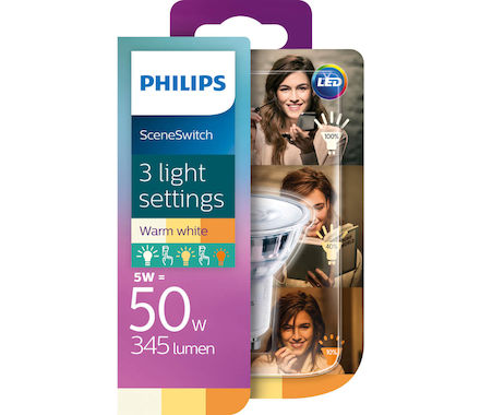 Philips SceneSw.réflLED 50W GU10 bc