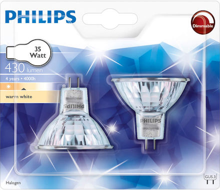 Philips réflect. halog. 35W GU5.3 Duo