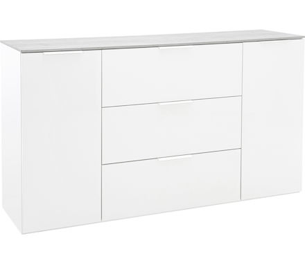 sideboard galaverna holzwerkstoff hochglanz weiss b 160 t 45 h 93 cm. Black Bedroom Furniture Sets. Home Design Ideas