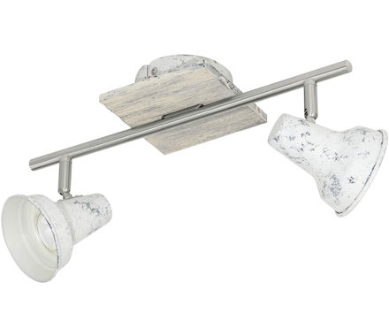 Spot Lory nickel bianco 2x5W GU10 LED