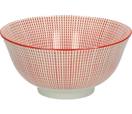 Bol Saigon 15cm rouge/blanc Mix It