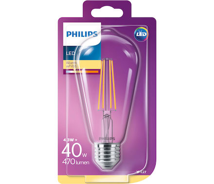 Philips LED Classic 4.3W (40W) E27