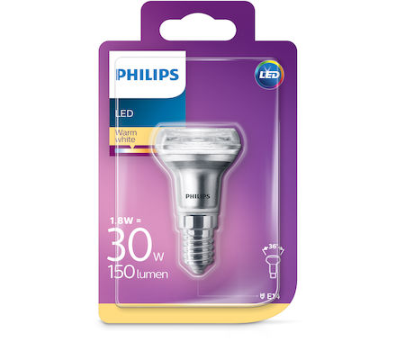 Philips LED Réfl.CLA1.8W(30W)R39 E14 36°