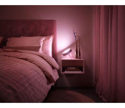 Philips Hue Lampe de table Iris LE rose