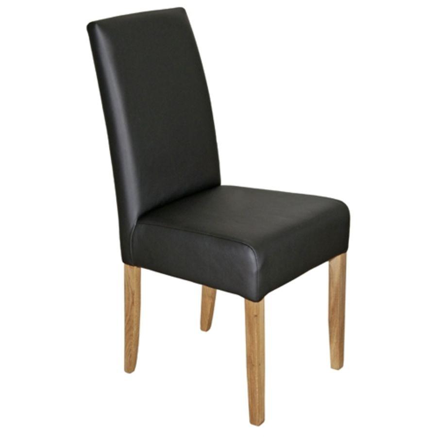 stuhl larissa leder schwarz b 43 t 58 h 97 cm toptip. Black Bedroom Furniture Sets. Home Design Ideas