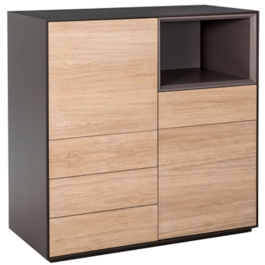 kommode mailand holz anthrazit b 100 t 44 h 104 cm toptip. Black Bedroom Furniture Sets. Home Design Ideas