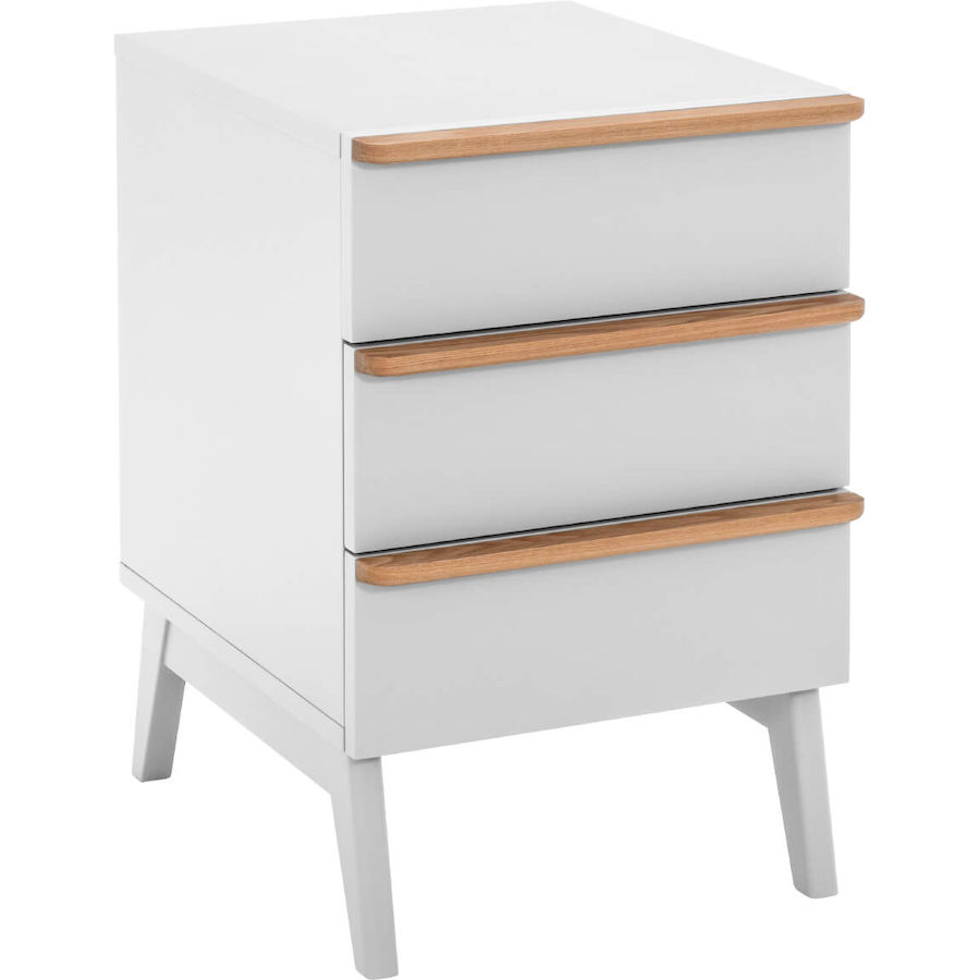accessoires bureau enna mat riau d riv du bois blanc laqu l 39 p 49 h 61 cm. Black Bedroom Furniture Sets. Home Design Ideas