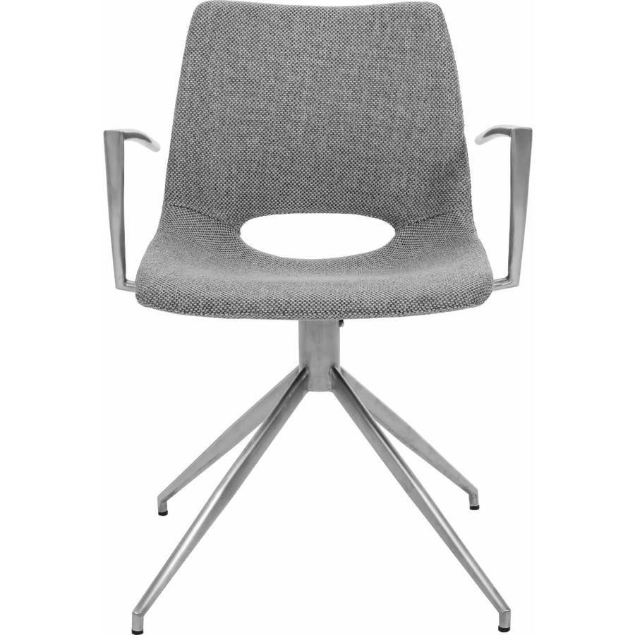 Chaise nila tissu gris clair l 57 p 58 h 80 cm livique for Chaise 80 cm