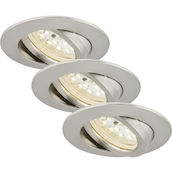 EBSP nickel 5.5W LED D:8.2CM 3er Set