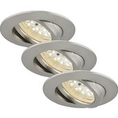 SAE nickel 5W LED D:8.2CM 3er Set