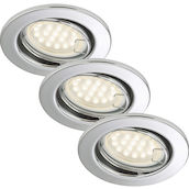 SAE chrome 3W LED GU10 D:8.6CM 3er Set
