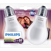 Philips LED Duopack60W E27 ww matt