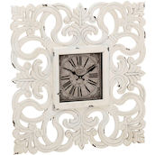 horloge Lola antique décor blanc
