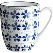 Mug 35cl blau/weiss World