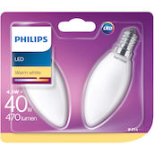 Philips Kerze LED4.3W(40W) E14 Duo ww