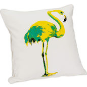 Cuscino Largo 44x44cm Flamingo giallo