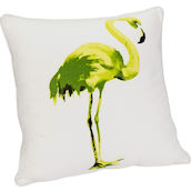 Cuscino Largo 44x44cm Flamingo verde