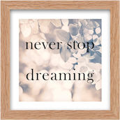 Image 30x30cm never stop dreaming