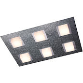 DL Basic Aluminium 6x4.1W LED