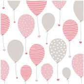 Serviette Lovely Balloon 33x33cm rosa