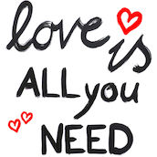 Serviette All you need 33x33cm blanc