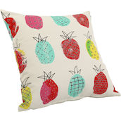Cuscino Pineapple big 48x48cm turchese