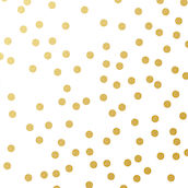 Serviette Golden Dots 33x33cm weiss